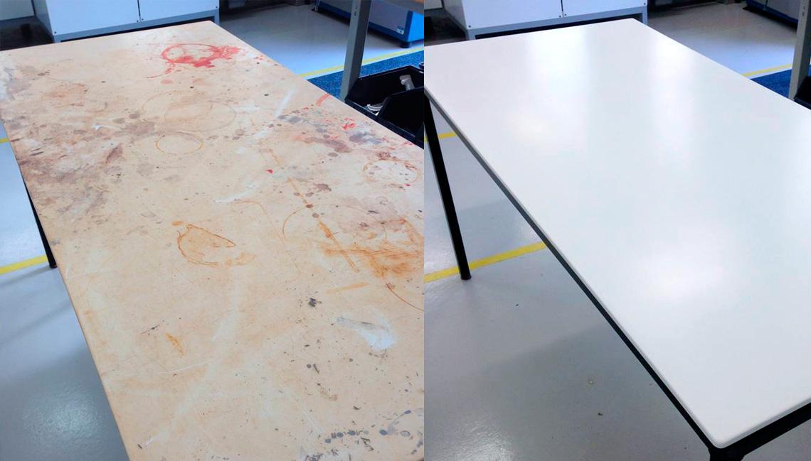manutenção do corian em mesa 2