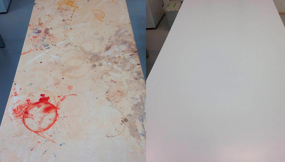 manutenção do corian em mesa